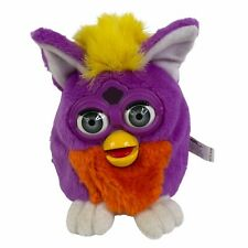 Vintage Original Hasbro Talking Furby Buddies 1999 Purple Yellow Orange WORKING