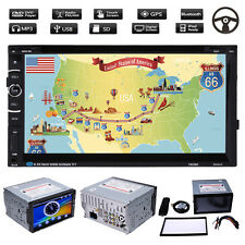 """7"""" Double 2DIN HD GPS Car Stereo DVD Player DVD/VCD/CD/MP3/MP4/divx Android + 8G"""