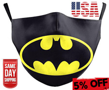 Batman Reusable Face Mask Washable With 2 Filters Cotton Activated Carbon USA