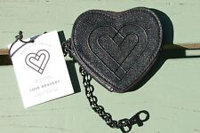 Love Bravery Lady Gaga Elton John Black Heart Faux Leather Coin Purse 4.5X4.5