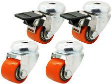 Polyurethan Rolle Rückenloch Lenk + Brems 35 mm Kompakt EXTREM Schwerlast 400 Kg