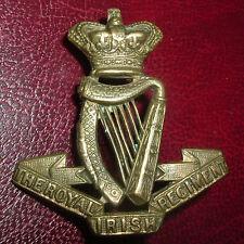 CAP BADGES-ORIGINAL BOER WAR VICTORIAN CROWN QVC ROYAL IRISH REGIMENT