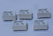 Lot of 5    Zettler Relays AZ832-2C-12DE 2A 30VDC 2A 125VAC