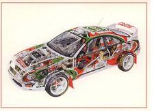 Toyota Celica GT4 Turbo WRC Transparent Picture Interior Postcard Card New