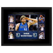DIRK NOWITZKI DALLAS MAVERICKS SIGNED AND FRAMED NBA PHOTO COLLAGE