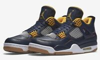 Nike Air Jordan Retro 4 Dunk From Above Size 7-14 Navy Gold White 308497-425