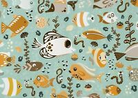 A1 Cute Fishes Cartoon Poster Art Print 60 X 90cm 180gsm - Sea Life Gift #16807