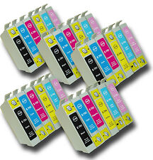 30 T0791-T0796 'Owl' Ink Cartridges Compatible Non-OEM with Epson Stylus PX730WD