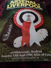 f a cup semi final programme 1980 x arsenal v liverpool x