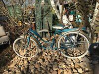 Vtg Girls Bike SKY Rider  Road Master Bicycle Original  1960's Sears Sea Blue