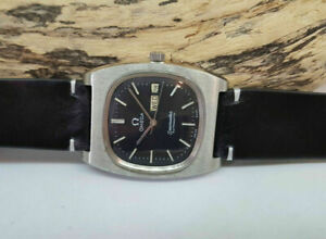 USED 1979 OMEGA SEAMASTER BLACK DIAL DAYDATE AUTOMATIC 1020 MAN'S WATCH