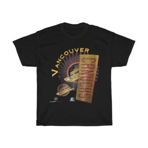 Vintage 1993 Vancouver Canucks NHL T-Shirt Black Unisex Cotton size S-3XL TK1123
