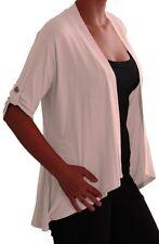Womens Front Open Wrap Draped Bolero Casual Shrugs Plus Size Tops Cardigans