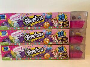 SHOPKINS Season 2 MEGA PACKS Lot- 3 boxes - 60 Total all different Shopkins