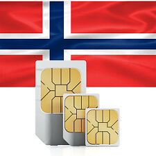 Data SIM card for Norway with 3 GB for 30 days