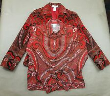 Isaac Mizrahi Womens Target Blazer and shirt, wild and crazy SMALL S