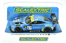 "Scalextric ""Mattioli"" Aston Martin Vantage Gt3 Dpr W/ Lights 1/32 Slot Car C4076"