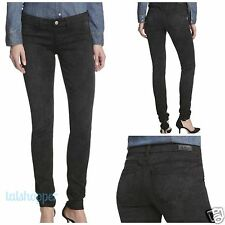 NWT 32 L SOLD DESIGN LAB Soho Super Skinny Black Lace Look Designer Jeans  $184