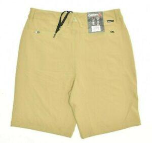 NEW Men's GERRY Uniform Khaki Quick Dry Trail Shorts Size 36 Secure Zip Pocket