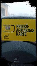 New Latvia Tele 2, ZZ,Prepaid Cell GSM Phone SIM Card 4G 1,49 EUR Balance