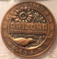 1863-1963 ARIZONA TERRITORY 100TH ANNIVERSARY (RARE)