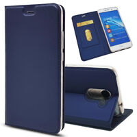 Magnetic PU Leather Flip Case Shockproof Card Cover for Huawei Y7 2017
