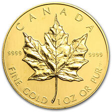 1989 1 oz Gold Canadian Maple Leaf Coin - Brilliant Uncirculated - SKU #77411