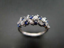 ESTATE VINTAGE MARQUISE DIAMOND ENGAGEMENT WEDDING RING SET IN 14K WHITE GOLD FN