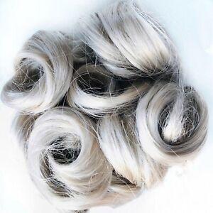 Black/Brown/Blonde/Gray/Auburn Hair Topper, Wiglet Piece, Synthetic Mini Wiglet