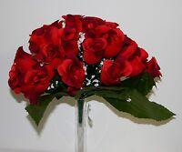 Bouquet Rose bouton x 24  Fleurs Artificielles intérieur/extérieur