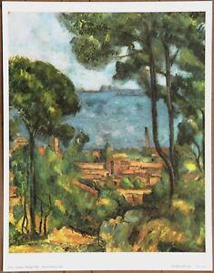 """Cezanne L""""Escque Ltd Ed Original Lithograph from late 1940's"""