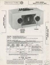 Zenith R512F, R, W Radios - Sams PhotoFact
