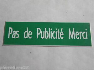 Placa Grabada Stop Pub Paso Anuncio Favor (2 Versiones) XXL Formato 50x150 MM