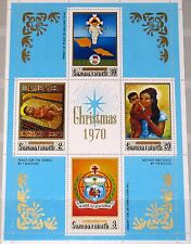 SAMOA 1970 Block 2 S/S 336a Christmas Weihnachten Religion Gemälde Kunst MNH