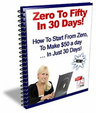 How To Make From Zero To $50 Per Day In 30 Days By Using This New System (CD)