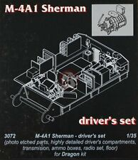 CMK 1/35 M4A1 Sherman (Early / Late) Driver's Compartment Set (for Dragon) 3072