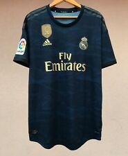 PLAYER ISSUE REAL MADRID 2019/2020 AWAY FOOTBALL SOCCER SHIRT JERSEY ADIDAS RARE