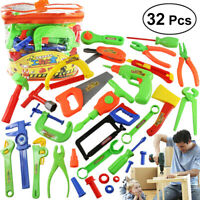 32Pcs Children Repair Tools Toy Kids Role Play Maintenance Toy Set Educational