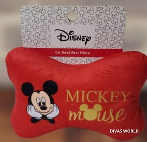 Mickey Mouse Car Head Rest Disney Cushion Travel Pillow Novelty Gift Primark NEW