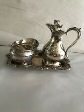 Vtg.Silver Ep Plated On Steel Fancy Tray, Bowl Made in England,Meriden Brita Sil