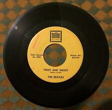 """VG+ Beatles Twist & Shout There's A Place Tollie 9001 45 7"""" VPI Cleaned"""