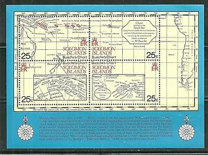 SOLOMON ISLANDS 443 MNH S/S CHARTS OF MAPMAKER JEAN NICHOLAS BUACHE