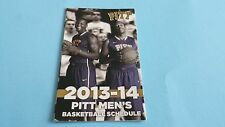 2013/14 NCAA MEN'S/WOMEN'S BASKETBALL PITTSBURGH PANTHERS POCKET SCHEDULE
