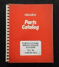 1992-1999 ISUZU 3LA1 3LB1 DIESEL ENGINE PARTS CATALOG MANUAL 200+ PAGES NICE