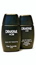 2 X GUY LAROCHE DRAKKAR NOIR EDT 5ml/0.17oz Mens Miniature Bottle Perfume