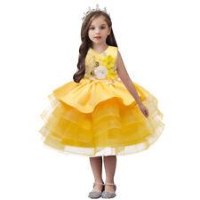 NEW Kid Flower Girl Wedding Birthday Pageant Formal Dress Yellow SZ 0-12M Z235A