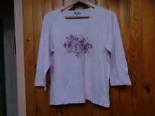 """Tee-shirt femme, marque """"Scottage"""", rose, taille 3, manches 3/4"""