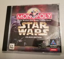 Star Wars Monopoly PC game Hasbro 1997 CD ROM ED.