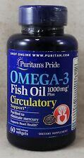 jlim410: Puritan's Pride Omega-3 Fish Oil Circulatory Support, 60 softgels