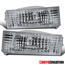 For 84-96 Jeep Cherokee Comanche Clear Bumper Lights Turn Signal Lamps Pair